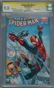 Amazing Spider-man #1 Ramos Stan Lee Variant CGC 9.8 Signature Series Signed Stan Lee Marvel comic book